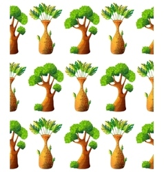 Cartoon tree pattern vector