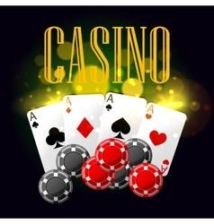 Casino poker poster design vector image