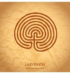 Celtic labyrinth vector image