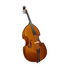 classical contrabass isolated object vector image vector image