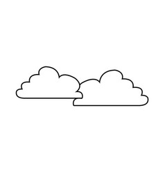 cloud weather sky atmosphere climate icon vector image vector image