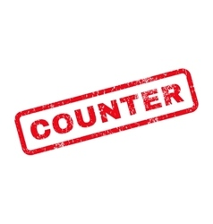 Counter Text Rubber Stamp vector image vector image