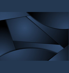 Dark blue abstract wavy corporate background vector