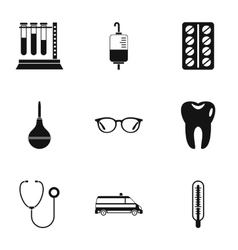 Diagnosis icons set simple style vector