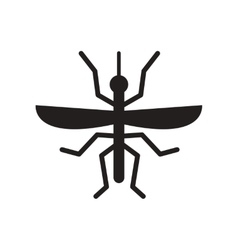 flat icon in black and white style flying beetle vector image vector image