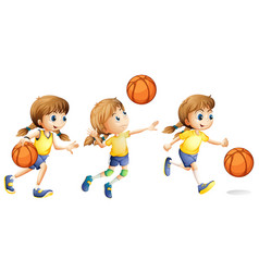 girl playing different sports vector image vector image