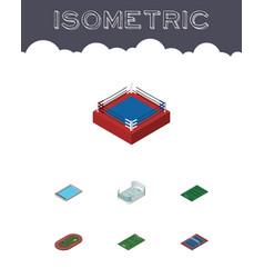 isometric lifestyle set of basin tennis run vector image