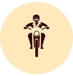 Motorcycle rider vector