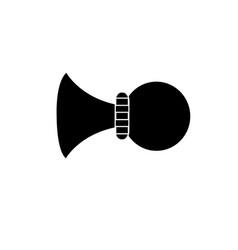 Old car horn vector