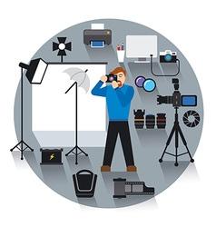 professional photo studio vector image vector image