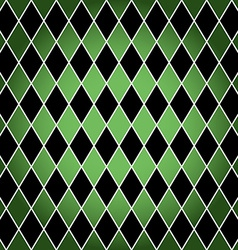 Seamless harlequin pattern-green and black vector