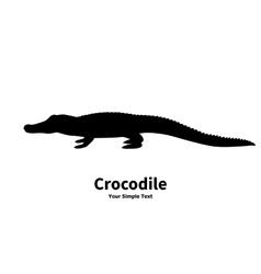 silhouette of crocodile vector image vector image