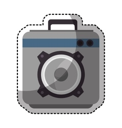speaker sound device isolated icon vector image
