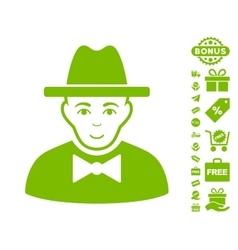 Spy icon with free bonus vector