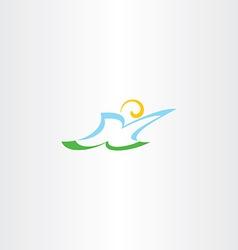 stylized man letter k logo k icon vector image
