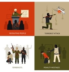 Terrorism design concept set vector
