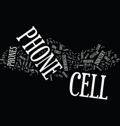 The cell phone text background word cloud concept vector