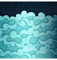 The Sea Banner vector image vector image