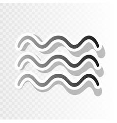 Waves sign new year blackish vector