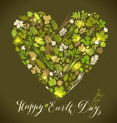 Happy earth day background nature abstract vector
