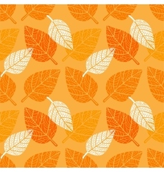 Seamless background with leaves vector