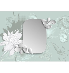 frame with hand drawn flowers vector image