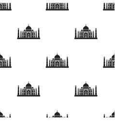 Taj mahal icon in black style isolated on white vector