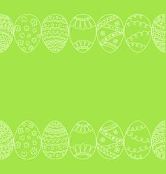 seamless border of hand drawn easter egg vector image