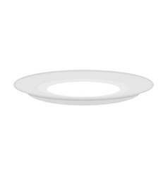 Plate empty isolated empty dish cutlery to eat on vector