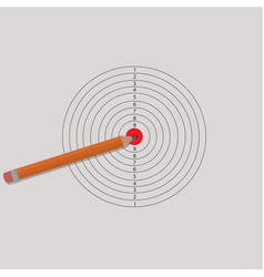 Pencil and target for shooting vector