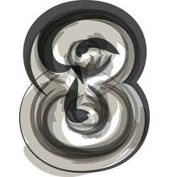Abstract number 8 vector