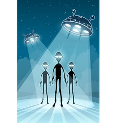 UFO alien newcomers vector image