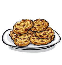 oatmeals cookie vector image