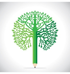 creative tree design with hand vector image
