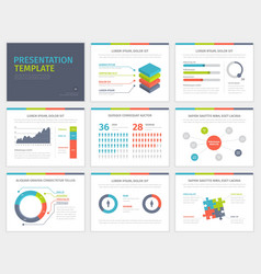 Set of presentation template infographic elements vector