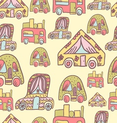 Seamless pattern with doodle recreational vector