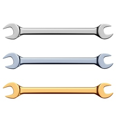 Open-end wrench vector
