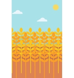 Background of wheat field vector