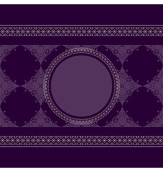Seamless vintage eastern style pattern with lacy f vector