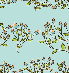 Abstract Flower bud pattern Seamless texture vector image vector image