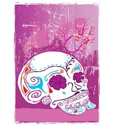 Artistic skull design vector