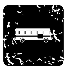 Bus icon grunge style vector image