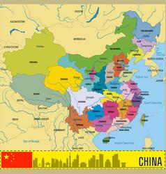 china political map vector image