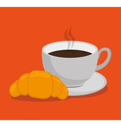 Coffee and breakfast design vector