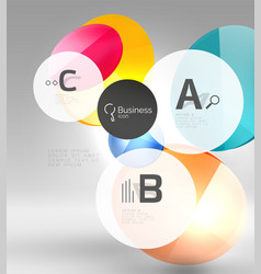 Colorful glossy circle infographics vector