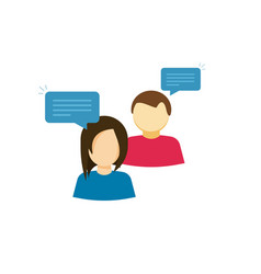 couple talking icon two person talk with vector image vector image