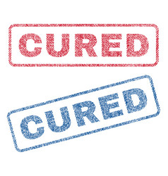 cured textile stamps vector image