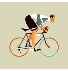 Cyclist athlete cartoon vector