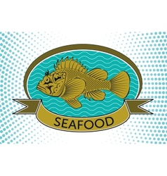 fish label vector image vector image