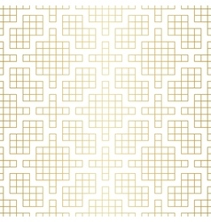 Golden abstract geometric Jacquard pattern with vector image vector image